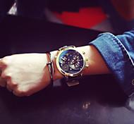Masculino Relógio de Pulso Quartz Couro Banda marca-