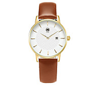 AIBI Women's Fashion Watch Calendar Water Resistant / Water Proof Quartz Leather Band Yellow