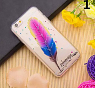 3D Feather Pattern TPU Back Case for iPhone 6/iPhone 6S(Assorted Color)