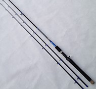 LI JI Caña de casting 2.1 M Pesca de baitcasting / Pesca de agua dulce / Pesca en General Hilo de acero / Aluminio / EVA / Carbón Barra
