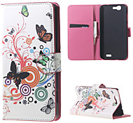 hiboux et coeurs adorables cuir magnétique cas de couverture de livre portefeuille de sac à main pour Huawei Ascend bascule g7