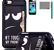 LEXY® Don't touch Pattern Soft TPU Back Case with Screen Protector and Stylus for iPhone 5C