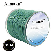 300M / 330 Yards PE Braided Line / Dyneema / Superline Fishing Line White / Yellow / Gray / glass green8LB / 20LB / 25LB / 30LB / 35LB /