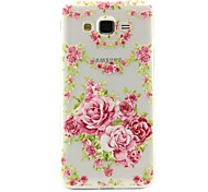 Peony Pattern TPU Soft Phone Case for Samsung Galaxy J2/J5/G360/G530