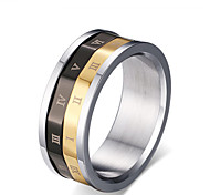 Z&X® Fashion Vintage Titanium Wedding Steel Ring Band Rings Party / Daily / Casual 1pc