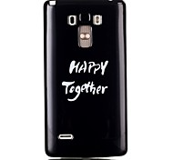 White Letter TPU Material Cell Phone Case for LG G4