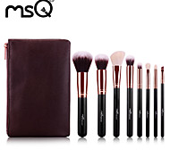 8Pcs Wool Rose Gold Makeup Brush Sets MAC Makeup Style