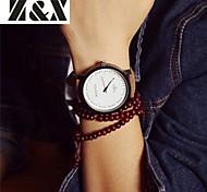 Женские Модные часы Кварцевый Кожа Группа Коричневый
