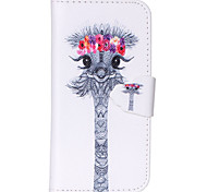 Lovely Giraffe Pattern PU Leather Full Body Cover with Stand for iPhone 6/iPhone 6S