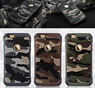 Troops Camouflage Pattern Leather/TPU 2 In 1 Phone Case for iPhone 6S/6(Assorted Colors)