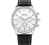 Men's Luxury Quartz Leather Band Wristwatch