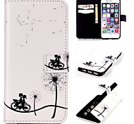Bike Dandelion  Embossed PU Leather Holster for iPhone 5/5S