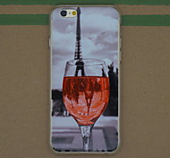 padrão de vidro de vinho tinto pc fina caso tampa traseira difícil para 6s iphone Plus / 6 Plus