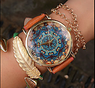 Paisley Watch, Vintage Style Leather Watch, Women Watches, Unisex Watch, Boyfriend Watch, Boteh Hippie Revolution