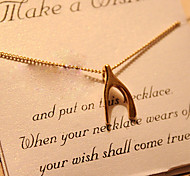 Wishbone & Bowknot & Cross & Peach & Skull Pendant Necklace