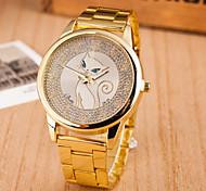 Woman And Men Fashion White Steel Wrist Watch