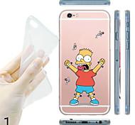 цели maycari®poor мультфильм прозрачный корпус ТПУ назад для iPhone / iPhone 6plus 6с плюс (ассорти цветов)