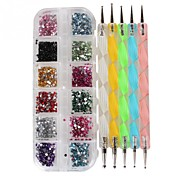 New Arrival Nail Box + Point Drill Pen Manicure Sets