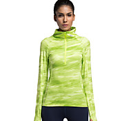 Running Tops Women's Long Sleeve Breathable Running Vansydical Sports Wear Green S / M / L / XL
