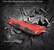 Redpepper Ultra Slim Aluminum Bumper Metal Waterproof Shockproof Case For iPhone 6s Plus/6 Plus