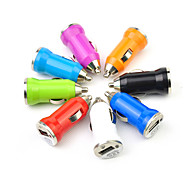 LEBOSH Mini Car Charger USB Charger Charging Cigarette Lighter Bullet 1A RandomColor