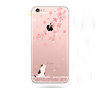 Cherry Blossoms Pattern Transparent TPU Soft Case for iPhone 5/iPhone 5S