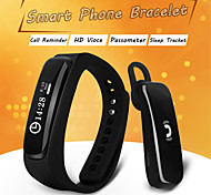 2015 New Smart Bracelet Watch Wristband Mate For IOS Android Smartphone with Bluetooth Earphone Waterproof