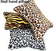 1pcs New Soft  Leopard  Nail Art Small Hand Pillow Cushion Random Color