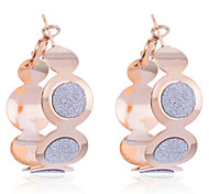 Korean Fashion Glitter Connected Circles Earrings