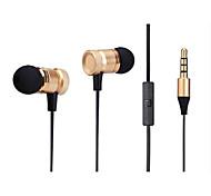gli auricolari in metallo in-ear con grano miglio Samsung Android cellulare auricolare universale