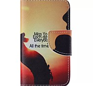 MISS YOU Pattern Cell Phone Leather For iPhone 4/4S