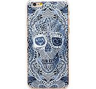 modello di scheletro diamante pc trasparente Back Cover per iPhone 6 più