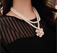 Necklace Strands Necklaces / Layered Necklaces / Pearl Necklace Jewelry Wedding / Party / Daily / Casual Pearl / Alloy / Imitation Pearl