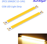 YouOKLight® 2PCS 10W COB 3000K 950lm Warm White Light Strip (DC 12~14V)