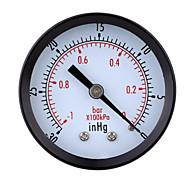 0~-30inHg 0~-1bar Mini Dial Air Vacuum Pressure Gauge Meter Pressure Gage Vacuum Manometer Double Scale