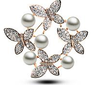 coreano blanco broche de perlas