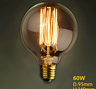 G95 Straight Wire 220V-240V 60W Round Dining Table Retro Bar Creative Modern Decorative Nostalgia Edison Bulb