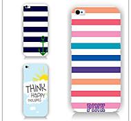 cas motif rayé chromatique PC Phone couverture arrière cas pour iphone5c