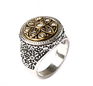 New Vintage Jewelry Men's Clover-shaped Alloy Statement Ring