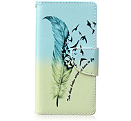 Feather Painted PU Phone Case for Huawei P8 Lite