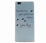 Free bird Pattern TPU Soft Case for Huawei P8 Lite
