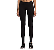 Running Tights Women's Breathable Running Vansydical Stretchy Black Solid S / M / L / XL