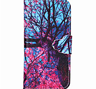 Pink Tree Pattern PU Leather Full Body Cover with Stand for iPhone 6/iPhone 6S