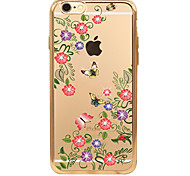 The New Winter Flowers Painted Metal Plating Diamond TPU Cover Cases for iPhone6/iPhone 6s(Assorted Colors)