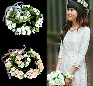 Garland Headwear+ Flower Bracelet Bride Accessory Travel Adorn