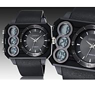 Unisex Reloj Deportivo Digital LED / Calendario / Cronógrafo / Resistente al Agua Caucho Banda Reloj de Pulsera Negro