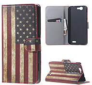 Retro American Flag  Magnetic Leather Wallet Handbag Book Cover Case For Flip Huawei ascend G7