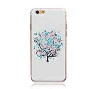 White tree Style Transparent Soft TPU Back Cover for iPhone 5C