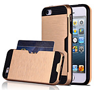 iPhone 7 Plus High Quality Snap-on PC + Silicone Insert The Card Hybrid Combo Armor Case Cover for iPhone 5/5S