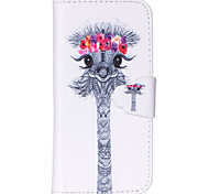 Deer Pattern PU Leather Phone Case For iPhone 5C